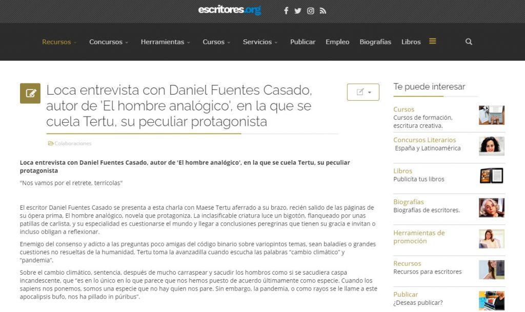 El hombre analógico - Daniel Fuentes Casado - escritores.org