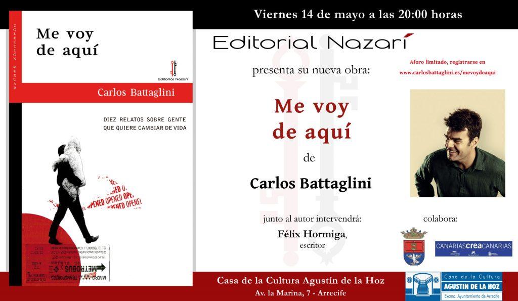 Me voy de aquí - Carlos Battaglini - invitación Arrecife 14-05-2021