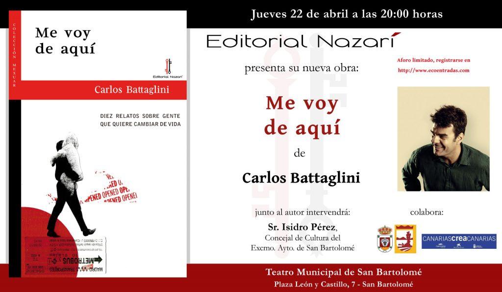 Me voy de aquí - Carlos Battaglini - invitación-San-Bartolomé-22-04-2021