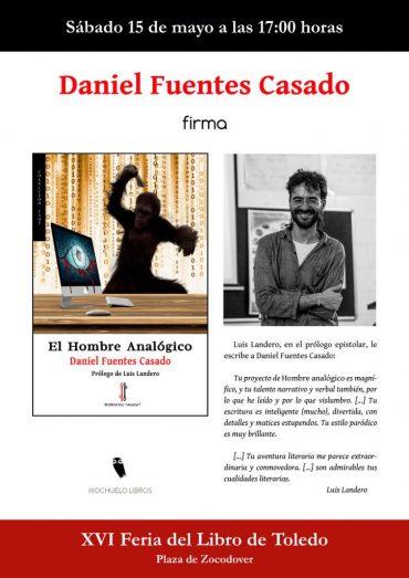 Firma de 'El hombre analógico' en la Feria del Libro de Toledo