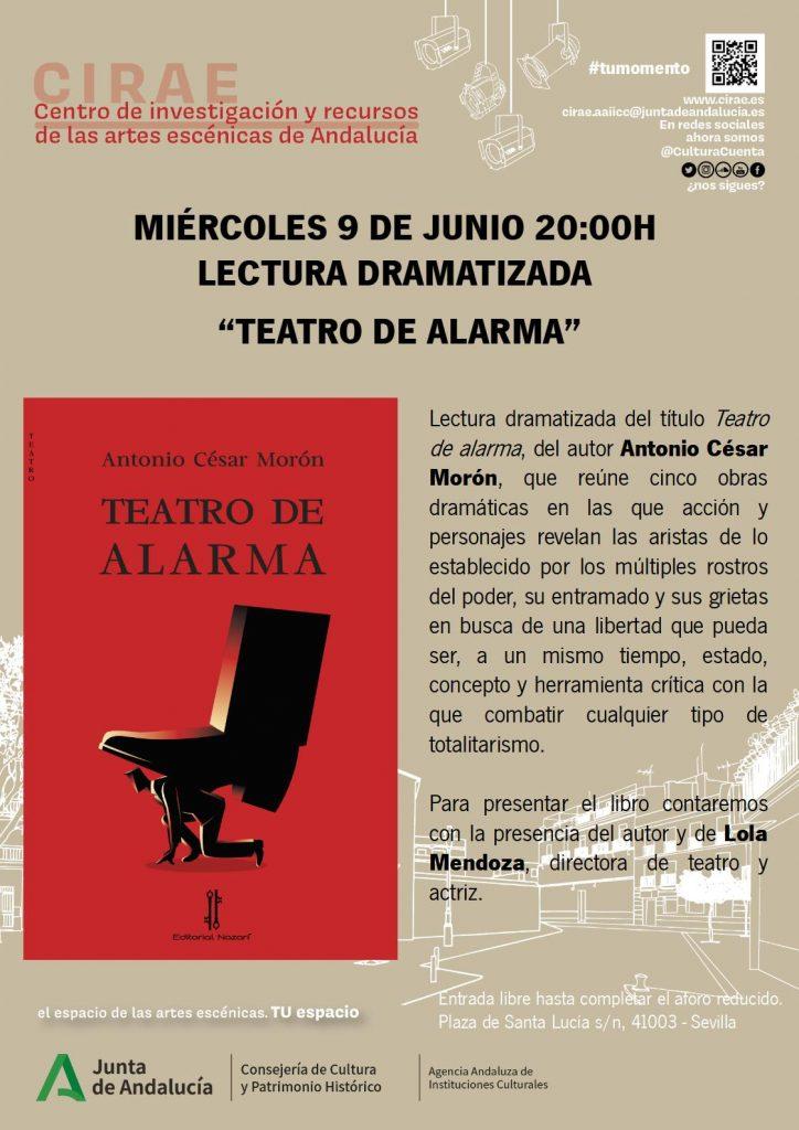 Teatro de alarma - Antonio César Morón - Sevilla 09-06-2021