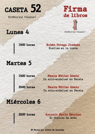 Firmas en la Feria del Libro de Granada